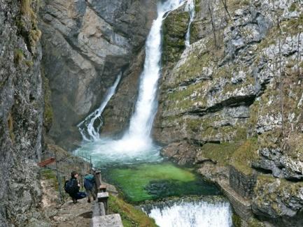 Beautiful Waterfall Savica