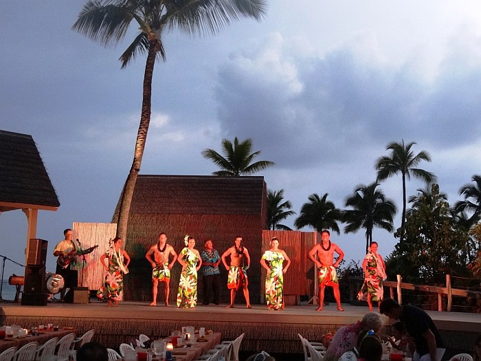Dancing show during the Lu'au