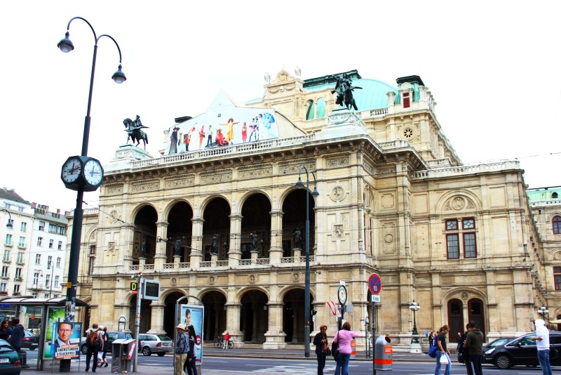 Vienna Opera House is located in the center of the city