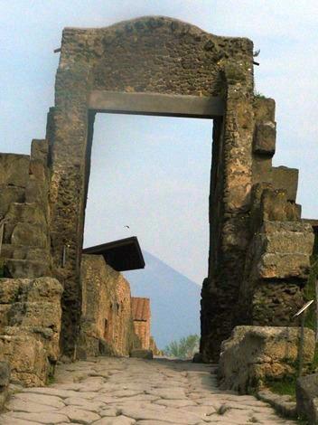 Doors to the city of Pompeii