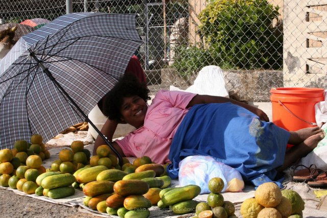 Everyday work on local market Suva