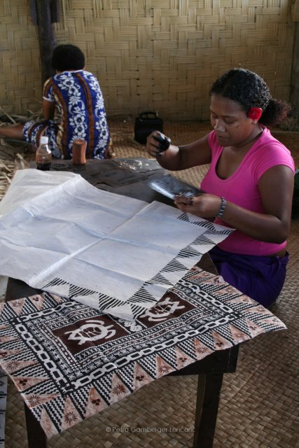 Patterns on tapioka village Namosi