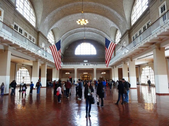 The Great Hall of the Immigration Museum on Ellis Island New York