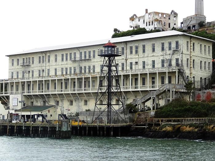 The buildings of the Alcatraz prison