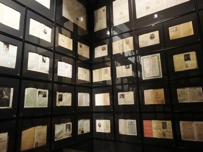 The documents of the immigrants are exposed at the Ellis Island New York Museum of Immigration