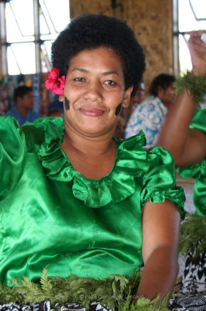 Tradicional clothes in village Namosi