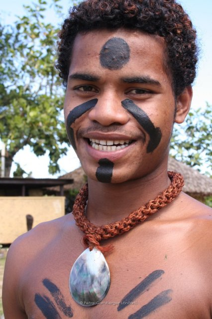 Young Fiji warrior from Danford family from Namosi village
