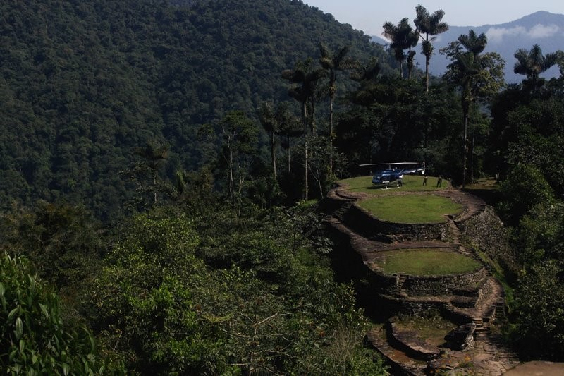 Ciudad Perdida - View from helicopter