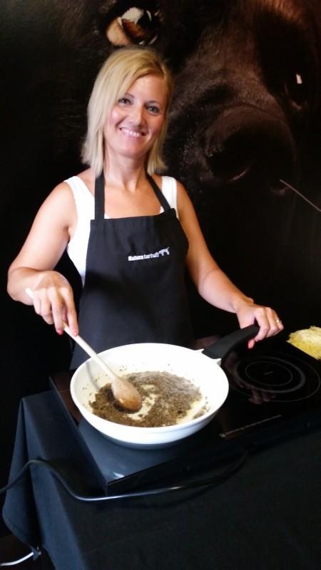 Mrs. Danijela preparing fritaja