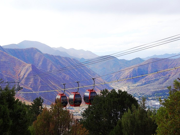 Going up to the Glenwood Caverns Adventure Park