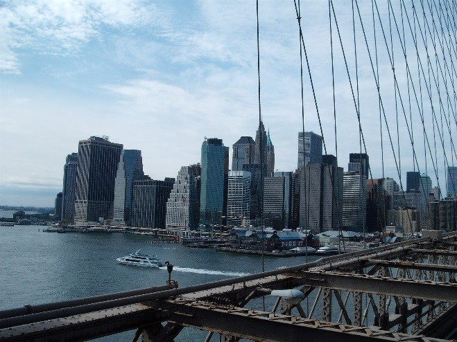 Taking a walk on Brooklyn Bridge