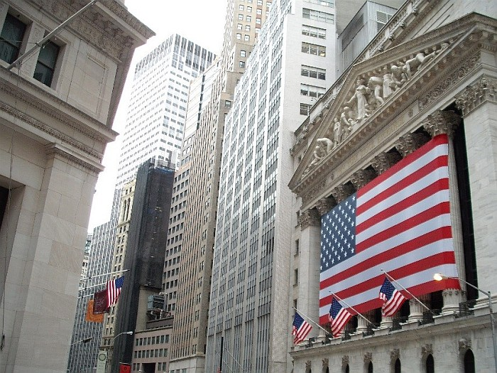 The New York Stock Exchange (building on the right)