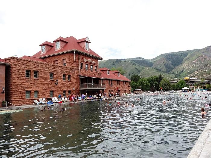 Relaxing in Glenwood Springs Colorado at the hot pool