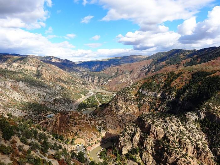 The Glenwood Springs Canyon