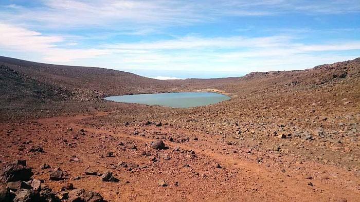 A small magical lake under the summit, where the native Hawaiians still worship their Gods.