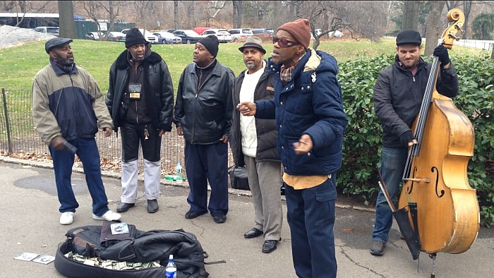 """On my way to Central Park, this group and their """"a Capella"""" voices just made my walk to Central Park amazing!"""