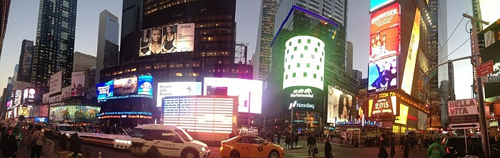 Times Square and all of its buzz