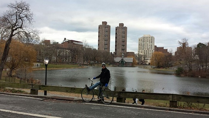 Biking at central park, a great experience if you have the time!