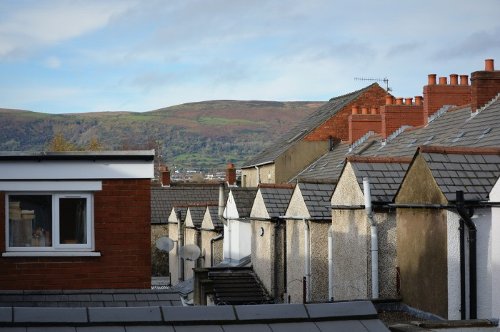 Typical block of houses in Belfast