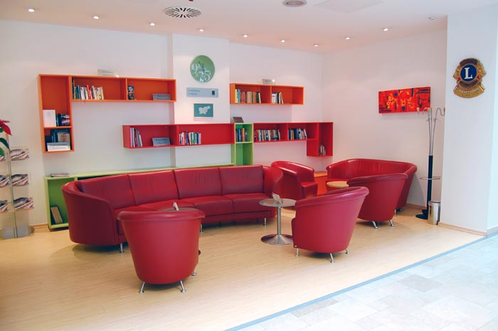 The library in one of Ljubljana hotels, City Hotel