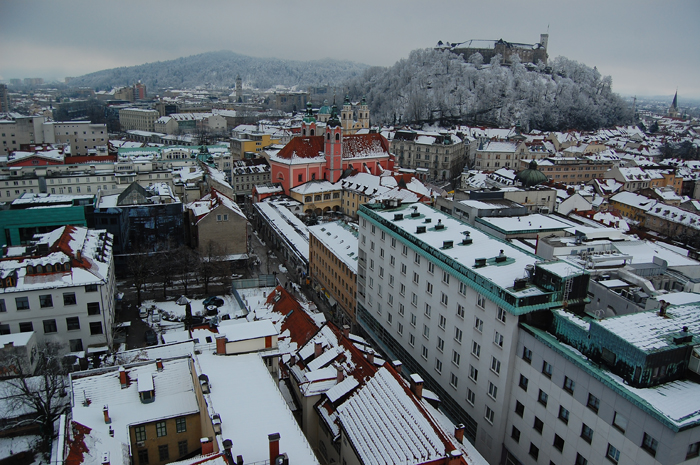What to see in Ljubljana: The amazing view from The Skyscraper