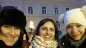 Me, Merve and Olga <3 at Arbatskaya Street before Gorky park