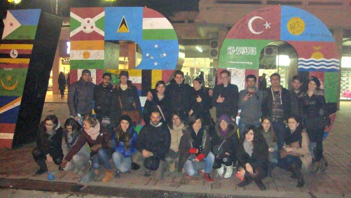 Lovely group of the Kosovo Training Course, at Newborn Monument