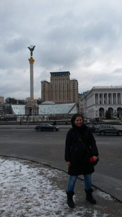 me in Maidan Nezalezhnosti, 5th of January