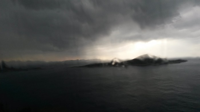 On the way to Kaş, when suddenly  it started to rain. February 7, '15