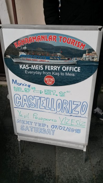 sign in front of the agency office. in high season, tours are held everyday