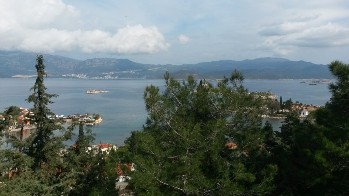 from a high spot that i went on foot. Kaş can be seen just under the clouds to the left side.