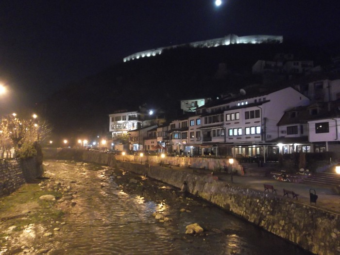 City of Prizren by evening.