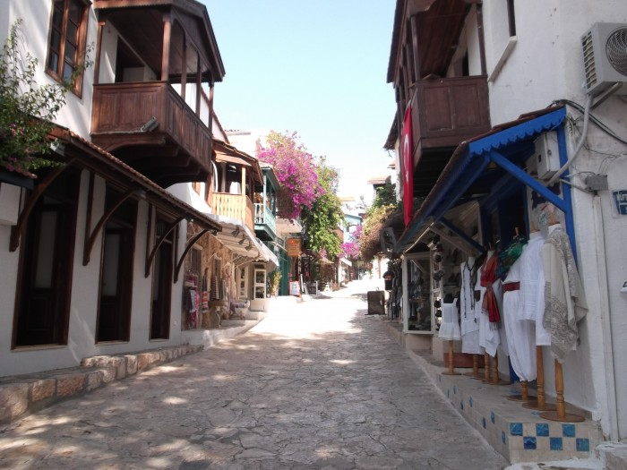 A street in the centre of Kaş. May 2014