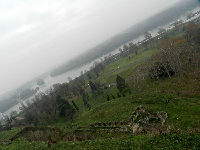 View of Sava and Dunav rivers from Kalemegdan