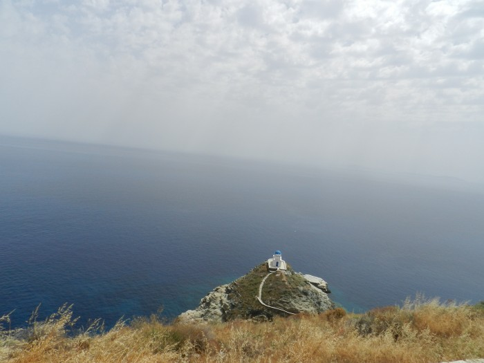 An isolated chapel in Sifnos island. June 2014