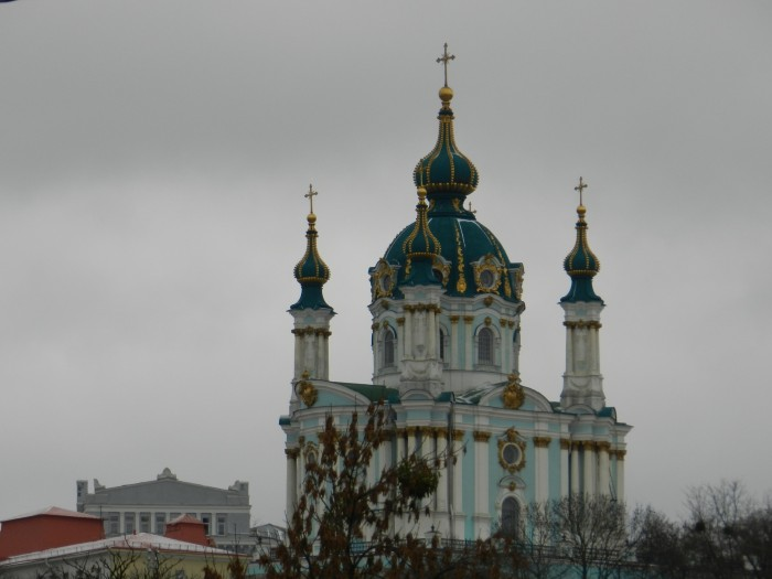 St. Andrew's Church in Andriivski District, Kiev