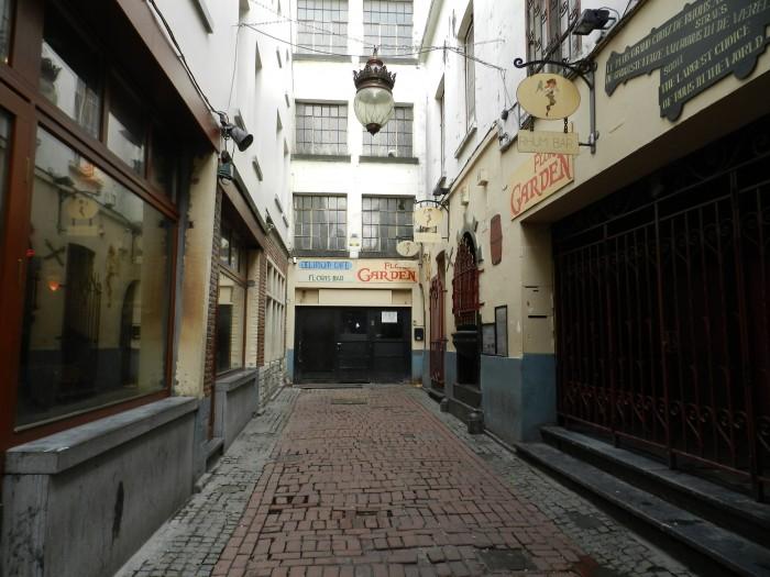 Empty street of Jeanneke Pis