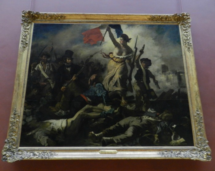 Lİberty Leading the People 1830 (La Liberte Guidant Le Peuple) Eugene Delacroix, at Louvre Museum