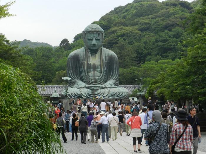 Kamakura Daibutsu- The Great Buddha of Kamakura in Kanagawa Prefecture. June 2011