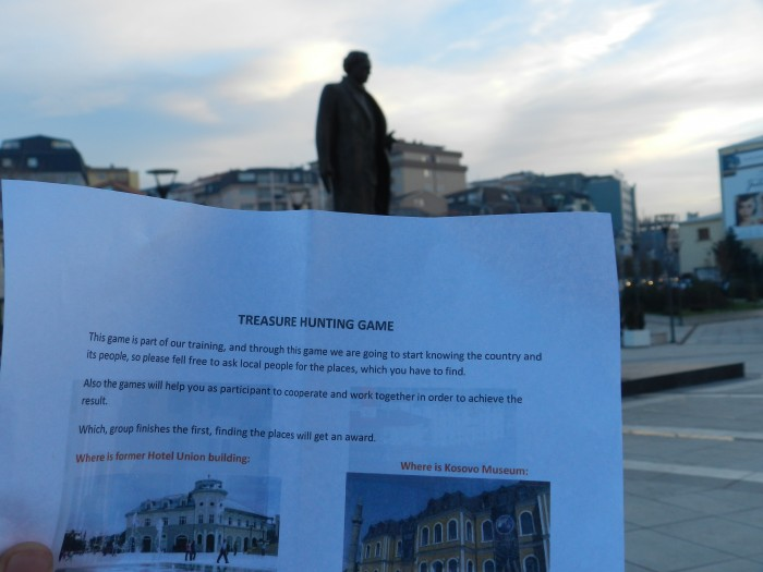 Discovering the city with playing the ''Treasure Hunting'' game was highly enjoyable. Prishtina City Centre