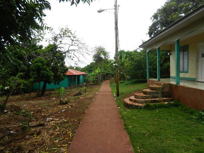 """main road"" on Little Corn Island"