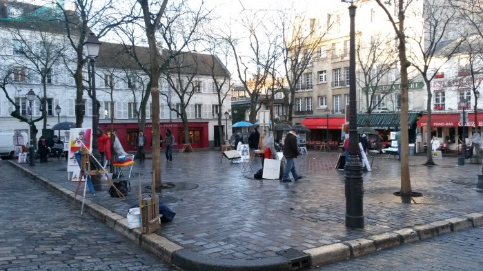 The Place du Tertre, the heart of Montmarte