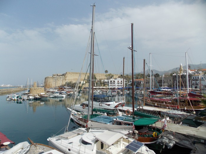 Girne - harbour and castle in the background