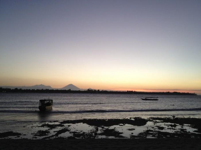 Sunset on Gili Meno, Bali
