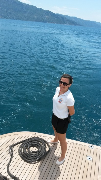 Me, on board. Dalyan Turkey, May '15