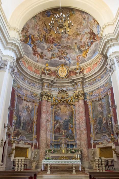Breathtaking frescoes in the Jesuit Church of St. Ignatius