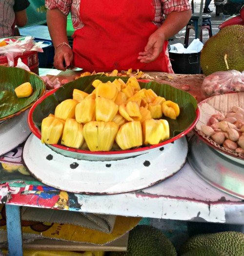 a generous street vendor who was so kind to make me try Durian?