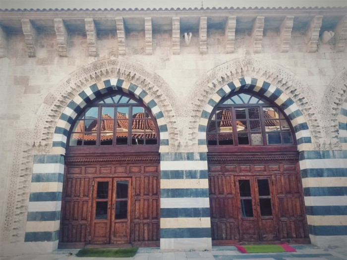View from Ulu Cami ( Grand Mosque) courtyard.