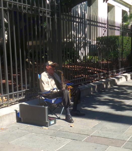 New Orleans - Street jazz musician