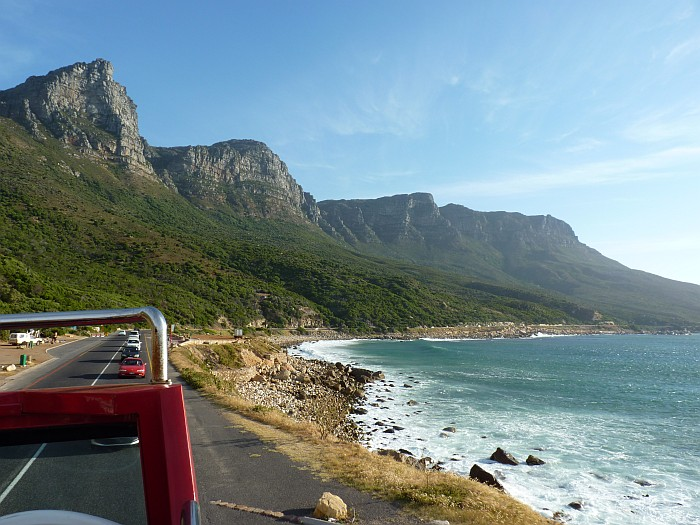 Things to do in Cape Town South Africa - riding a red double-decker bus